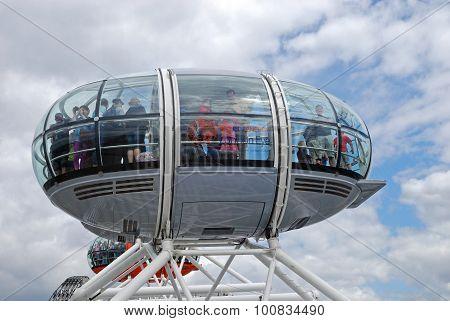 London Eye capsule.