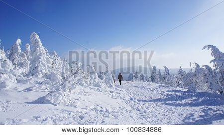 Winter landscape on the Fichtelberg