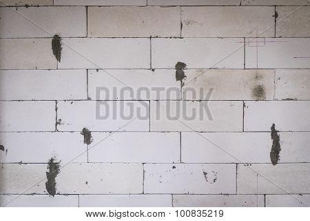 Lightweight concrete brick wall