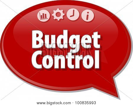Blank business strategy concept infographic diagram illustration Budget Control