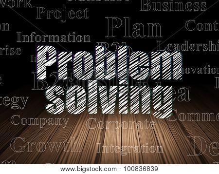 Finance concept: Problem Solving in grunge dark room
