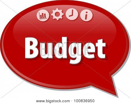 Blank business strategy concept infographic diagram illustration Budget