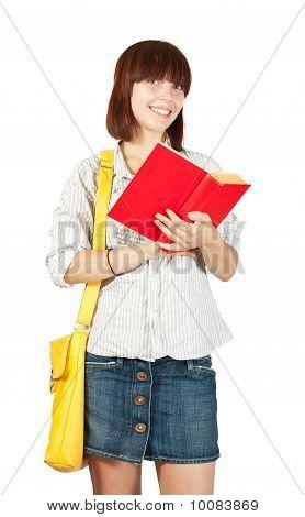 Colegiala con libro