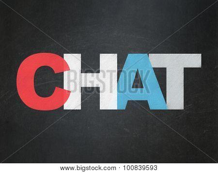 Web development concept: Chat on School Board background