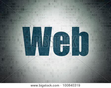 Web design concept: Web on Digital Paper background