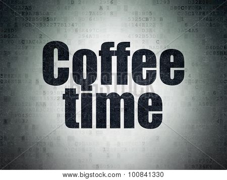 Timeline concept: Coffee Time on Digital Paper background