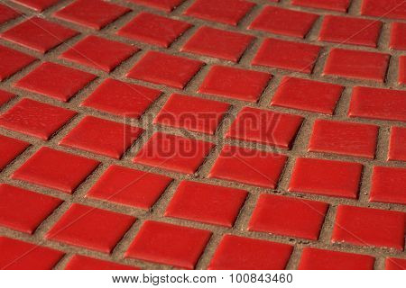 Red Tiled Wall