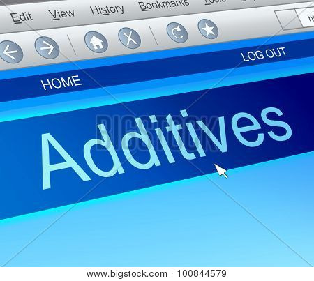 Additives Concept.