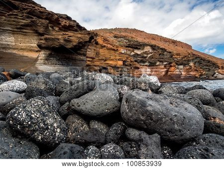 Yellow Mountain (montana Amarilla) In Costa Del Silencio. Tenerife