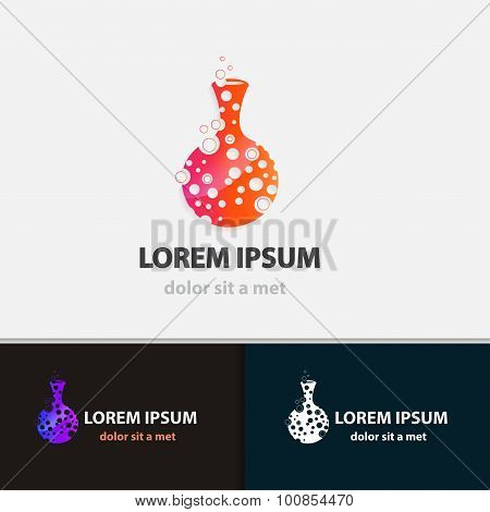 Creative flask business icon. Modern design shape. Vector illustrations.