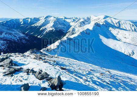 Kasprowy Wierch  In The Western Tatras. Winter View.
