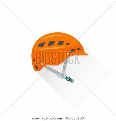 Color Alpinism Equipment Helmet Icon Illustration.