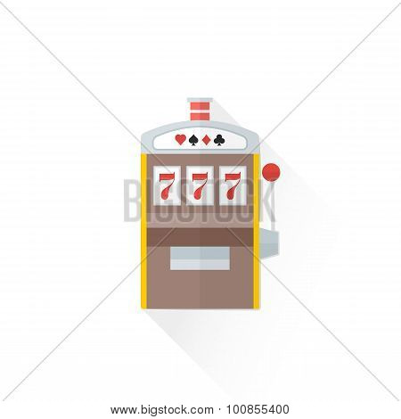 Color Playing Slot Machine Icon Illustration.