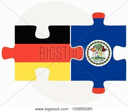 Germany And Belize Flags