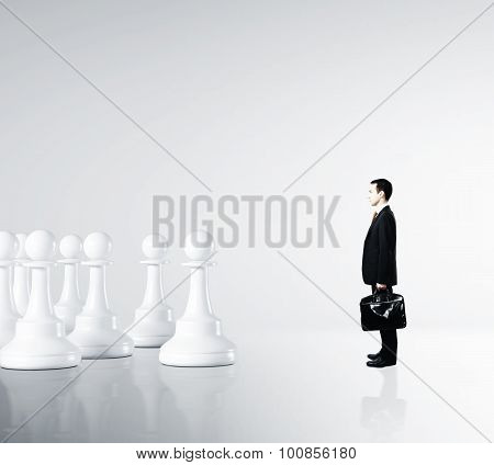 Businessman And Pawns