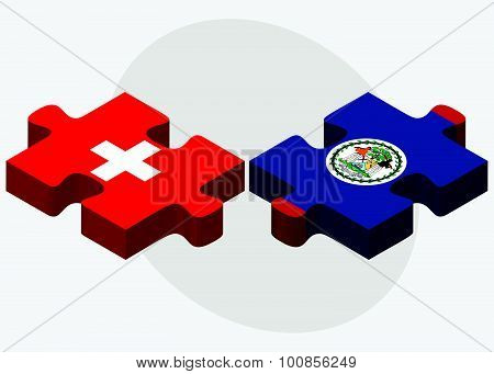 Switzerland And Belize Flags