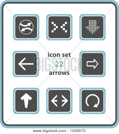 Vector Icon Set 22: Arrows