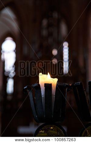 Candle Light On Dark Background