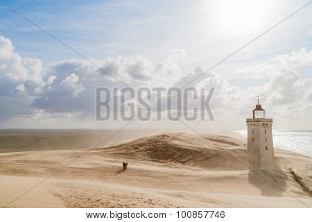 Sandstorm At The Lighthouse