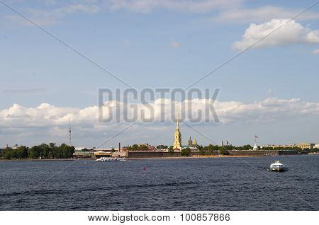 Rabbit Island And Neva River, St.petersburg, Russia