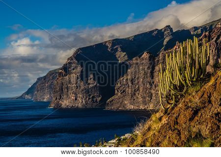 View On Los Gigantes During Sunset-tenerife,spain
