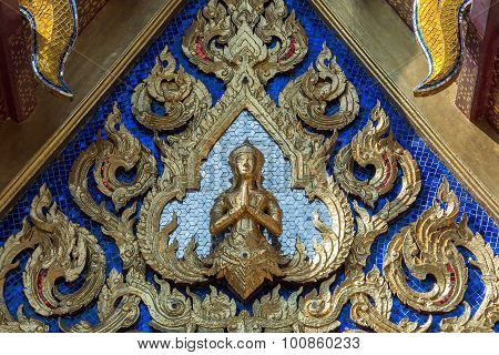 Ornate Buddha In Wat Phra Kaeo