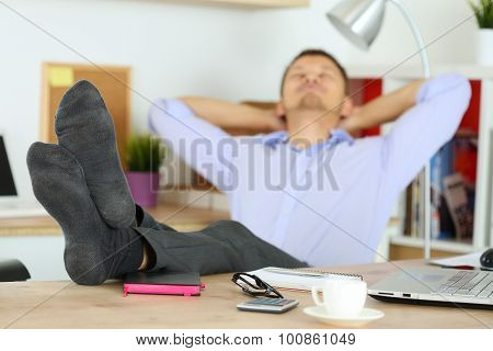 Businessman Without Shoes