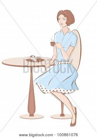 Girl at cafe
