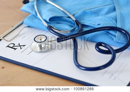 Empty Medical Form Ready To Be Used