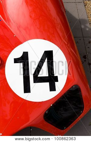 Red Classic Racing Car Bonnet