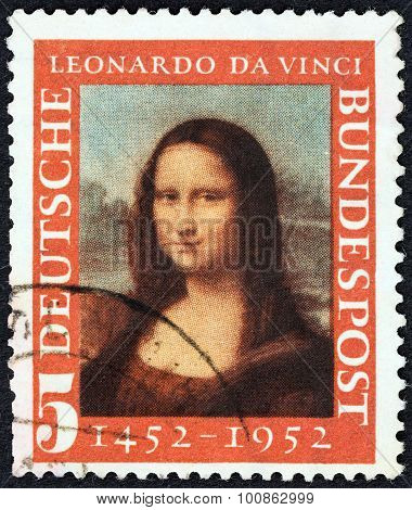 GERMANY - CIRCA 1952: A stamp printed in Germany shows Mona Lisa