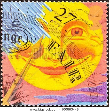 UNITED KINGDOM - CIRCA 2001: A stamp printed in United Kingdom shows Fair weather