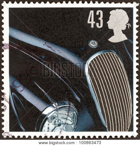 UNITED KINGDOM - CIRCA 1996: A stamp printed in United Kingdom shows Jaguar XK120