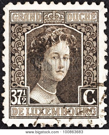 LUXEMBOURG - CIRCA 1914: A stamp printed in Luxembourg shows Grand Duchess Adelaide