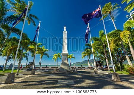 CAIRNS, AUS - JUN 22 2014: Cairns Cenotaph and Memorial site. It is a place of cultural and historic significance for the Cairns community.