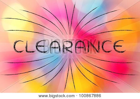 Clearance (retro Rays Illustration)