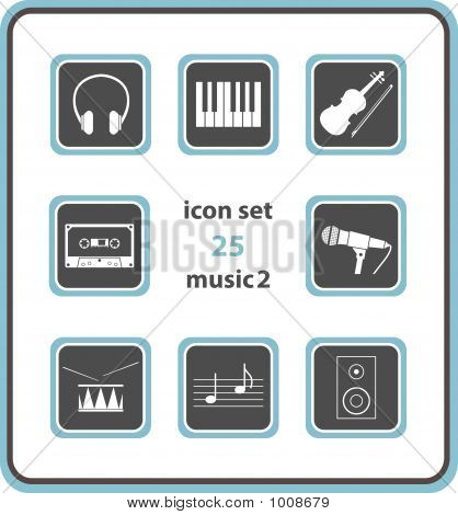 Vector Icon Set 25: Music 2