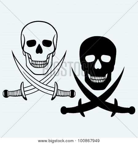 Skull and crossed swords