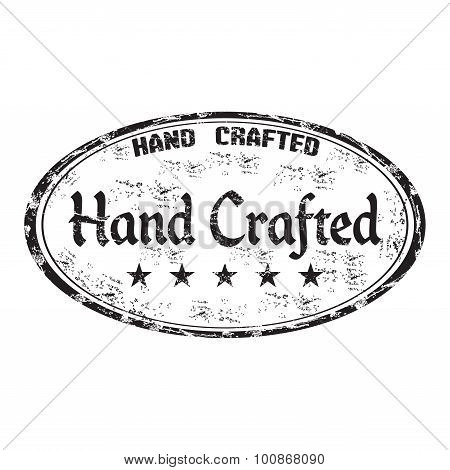 Hand crafted grunge rubber stamp