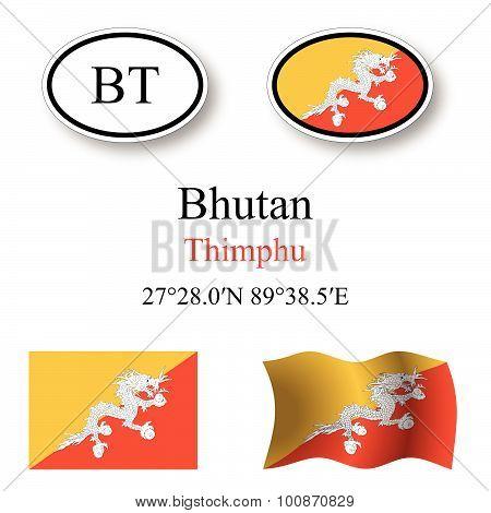 Bhutan Icons Set