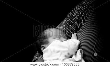 Unknown Men Hold Asian Thai Female Baby Sleeping  Lowkey