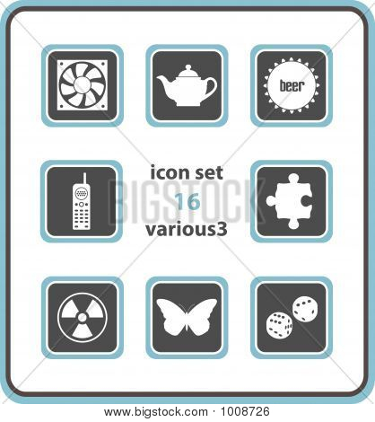 Vector Icon Set 16: Various3