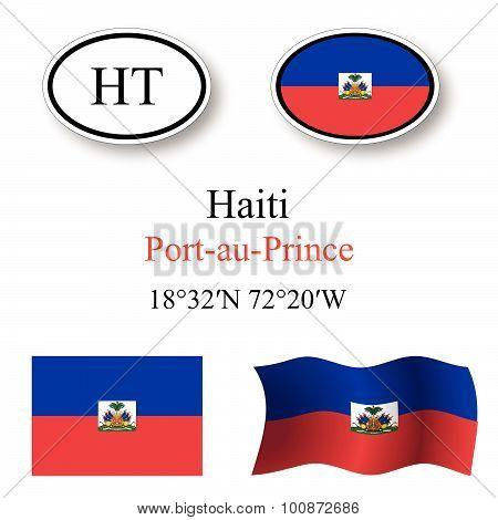 Haiti Icons Set