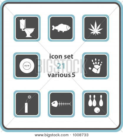 Vector Icon Set 21: Various 5