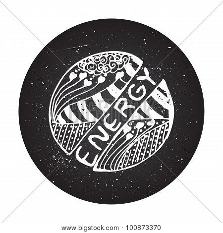 Detailed hand drawn zentangle logo