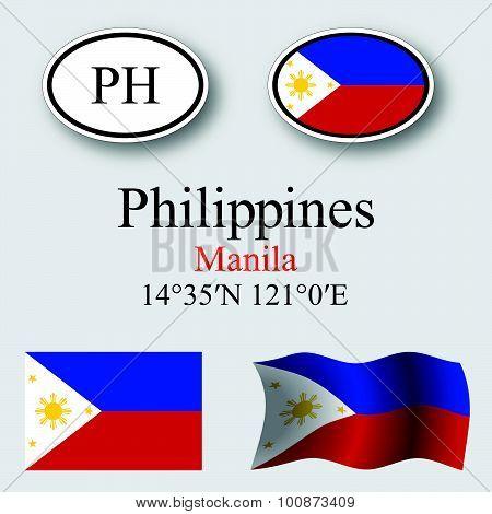 Philippines Icons Set