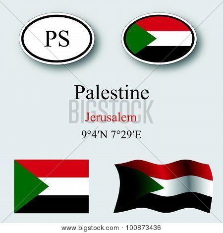 Palestine Icons Set