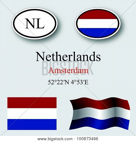 Netherlands Icons Set