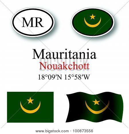 Mauritania Icons Set