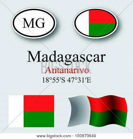 Madagascar Icons Set